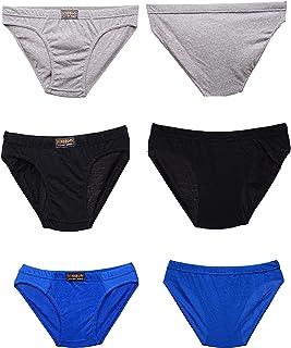 Classic Sports Men's Briefs Slips Underwear Cotton Pants Bonnin Soft Breathable Sexy Boxer Shorts S-M-L-XL 3-6-9-12 Pack