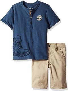 Timberland 添柏岚男孩 2 件 T 恤衫短裤套装