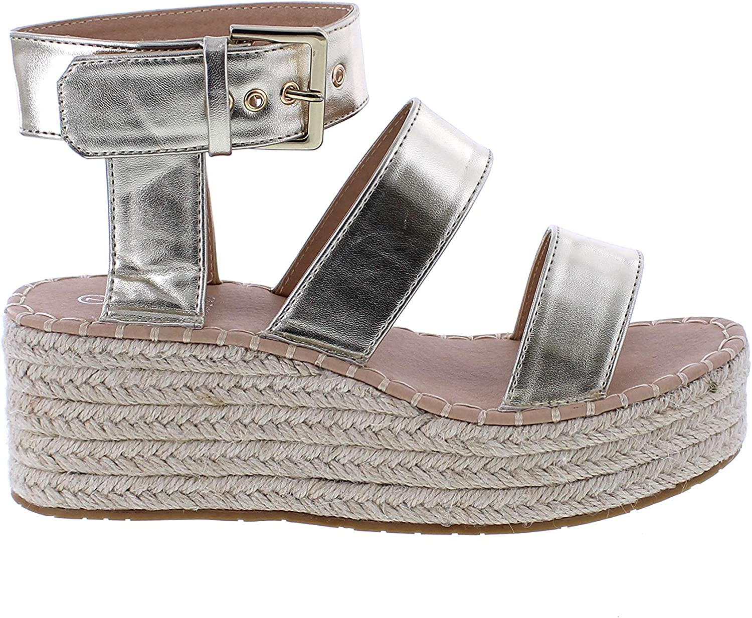 Makers's shoes Sandal of Wedge of Espadrille for Women Comfortable for All Occasions