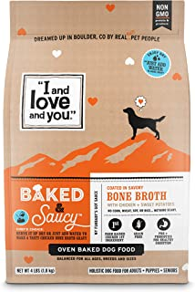 I and love and you Baked & Saucy Grain Free Kibble Dry Dog Food with Gravy Coating (Variety of Flavors)