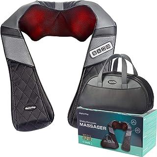 Display4top Masajeador Cervical Se puede usar en el hogar, la oficina, el automóvil, puede aliviar eficazmente el dolor de hombro, espalda, pantorrilla y otros, Contiene un bolso de mano (negro&Gris)