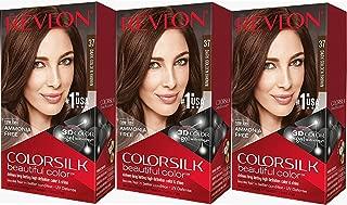 Revlon Colorsilk Beautiful Color, Dark Golden Brown, 3 Count
