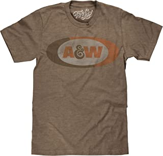 Tee Luv A&W Root Beer T-Shirt - Distressed A and W Logo Shirt