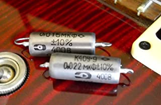 Set of .015uf & .022uf/400v Russian K40Y-9 Paper In Oil Capacitors - NEW OLD STOCK