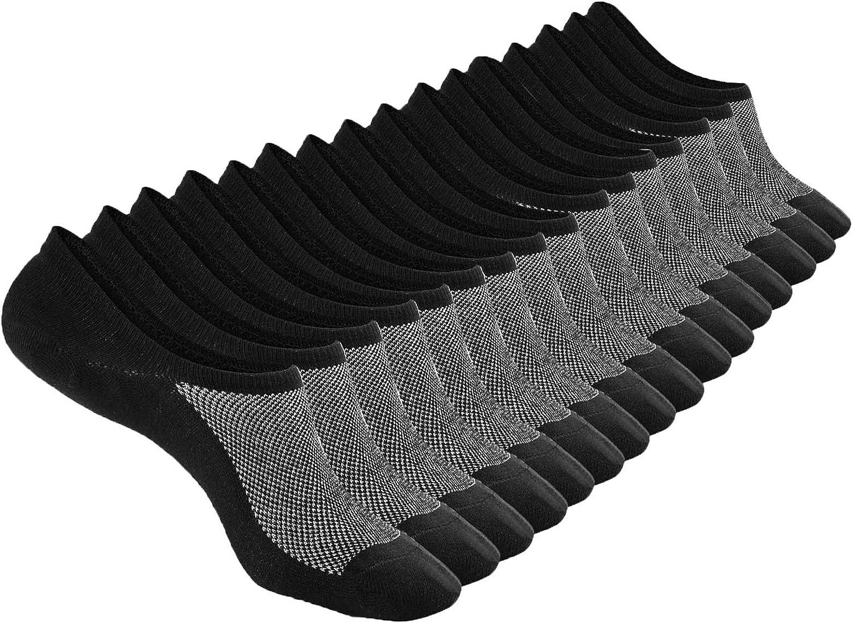 No Show Ankle Socks Low Cut Socks for Men&Women, Non Slip, 8 Pairs