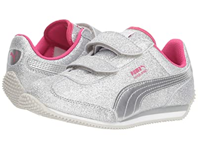 Puma Kids Whirlwind Glitz V (Little Kid/Big Kid) (Puma Silver/Beetroot Purple/Gray Violet) Girls Shoes