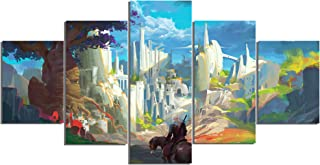 The Witcher 3: Wild Hunt Art Canvas Posters Home Decor Wall Art Framework 5 Pieces Paintings for Living Room HD Prints Pictures