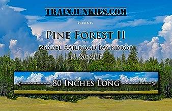Train Junkies Pine Forest 2- Model Railroad Backdrop in N Scale