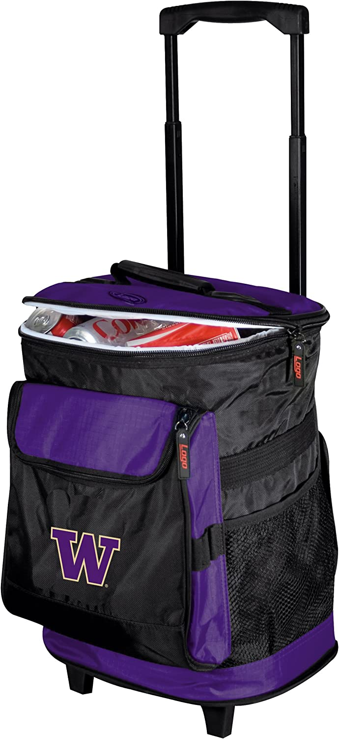 Collegiate 48Can Rolling Cooler with Wheels and Backpack Straps
