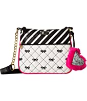 Luv Betsey Zippyy PVC Crossbody w/ A Front Zip Pocket