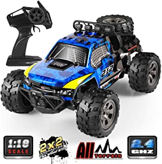 RC Car, 1:18 All Terrain Remote Control High-Speed Offroad 2.4Ghz 2WD Remote Control Monster Truck, Best Gift for Kids and Adults