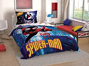 TAC Spiderman into The Spider - Verse Licenced Ranforce Single Twin Kid's Bedding Set Duvet Quilt Cover Set 3 pcs%100 Cotton