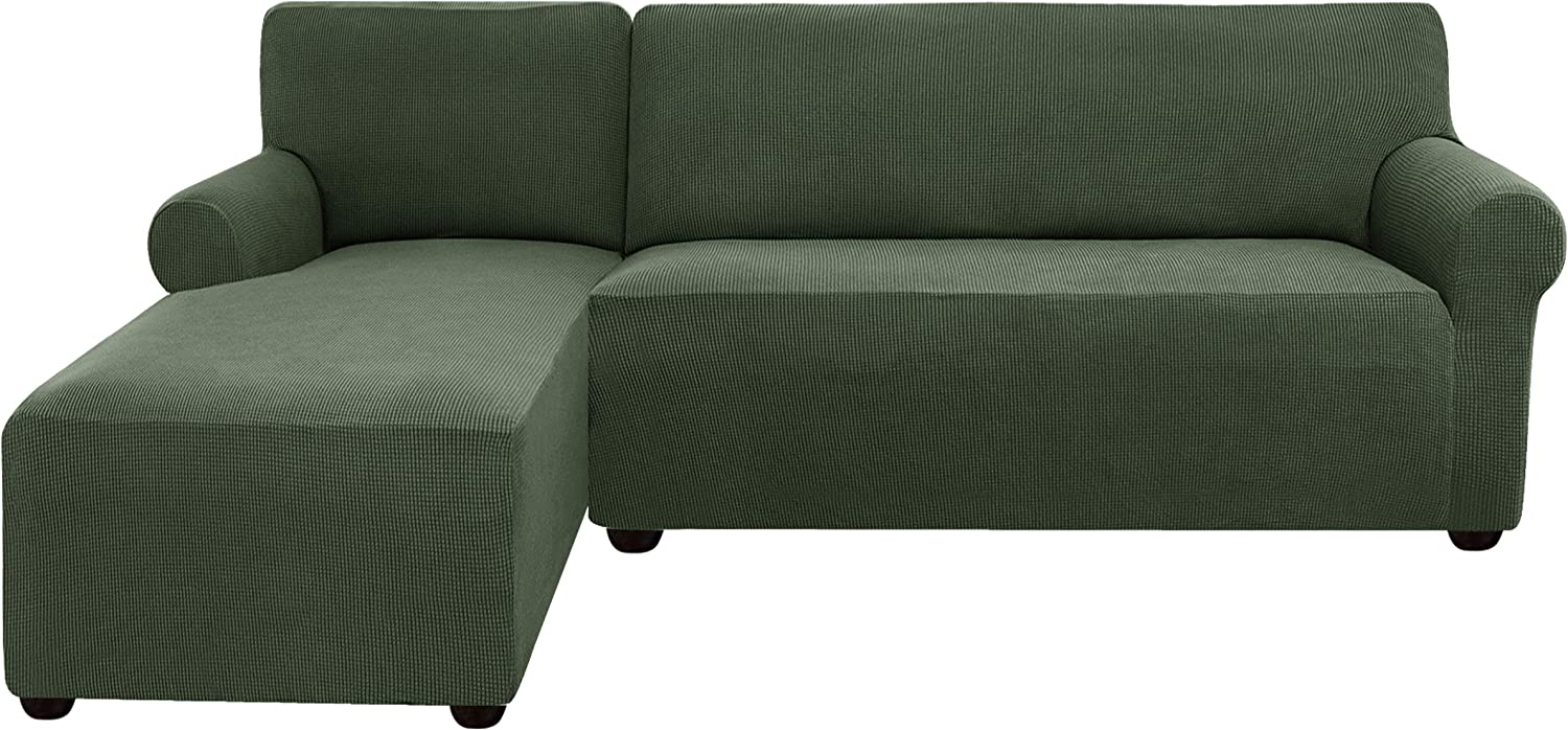 Subrtex Sectional Couch Safety and trust Covers L Chai Stretchy Recommended Cover Shape