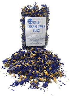 Organic Blue Cornflower Buds - Dried And Grown In Germany, Non-gmo, Culinary-grade (1.05 Oz/ 30 Grams) - Organically Grown Herbal Flower Buds For For Tea Blends & Decoration (Centaurea Cyanus)