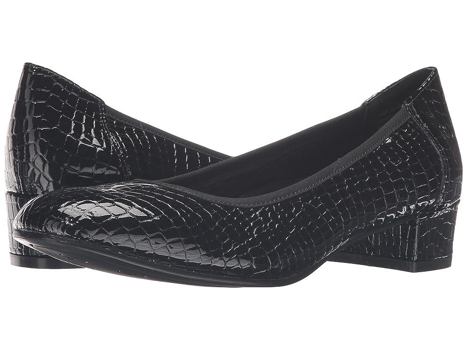 David Tate Piper (Black Croc Patent Print) Women