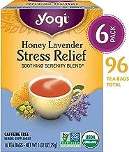 Yogi Tea - Honey Lavender Stress Relief - Soothing Serenity Blend - 6 Pack, 96 Tea Bags Total