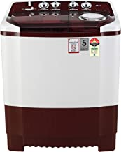 LG 8 Kg Semi-Automatic Top Loading Washing Machine (P8035SRMZ, Burgundy)