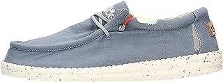 Zapatos DUDE Wally Washed 1115 de la Talla 46 en Color Blue_Stone