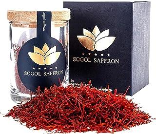 Sogol Saffron Threads for Cooking(5 gram) Saffron Tea Organic, Super Negin Saffron for Persian Rice, Spanish Rice, All Red...
