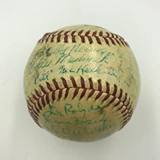 1941 All Star Game Team Signed Baseball With Mel Ott Arky Vaughan COA - PSA/DNA Certified - Autographed Baseballs