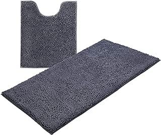 KMAT Bath Mats Luxury Chenille Bathroom Rugs(2 PCS), Soft Plush Anti-Slip 28