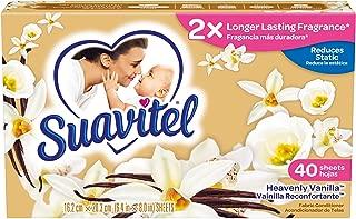 Suavitel Dryer Sheets, Heavenly Vanilla, 40 Count (Pack of 12)