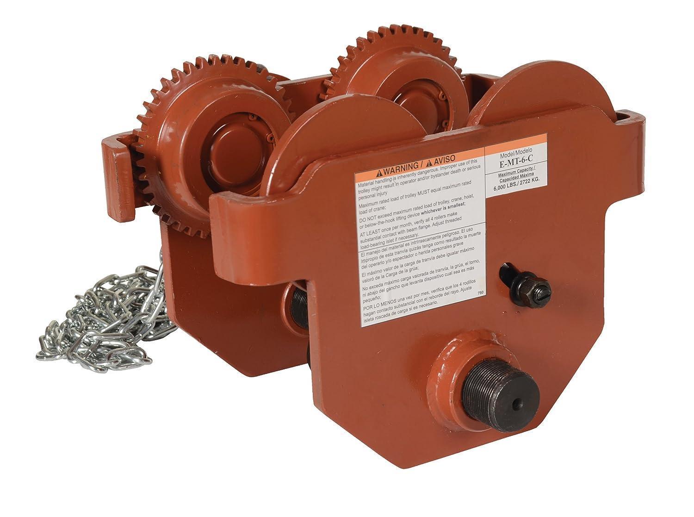 Vestil E-MT-6-C Steel Low Profile Trolle Manual Geared All items free shipping Chain Eye Ranking TOP5