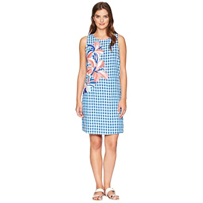 Tommy Bahama Gabriella Gingham Shift Dress (Blue Aster) Women