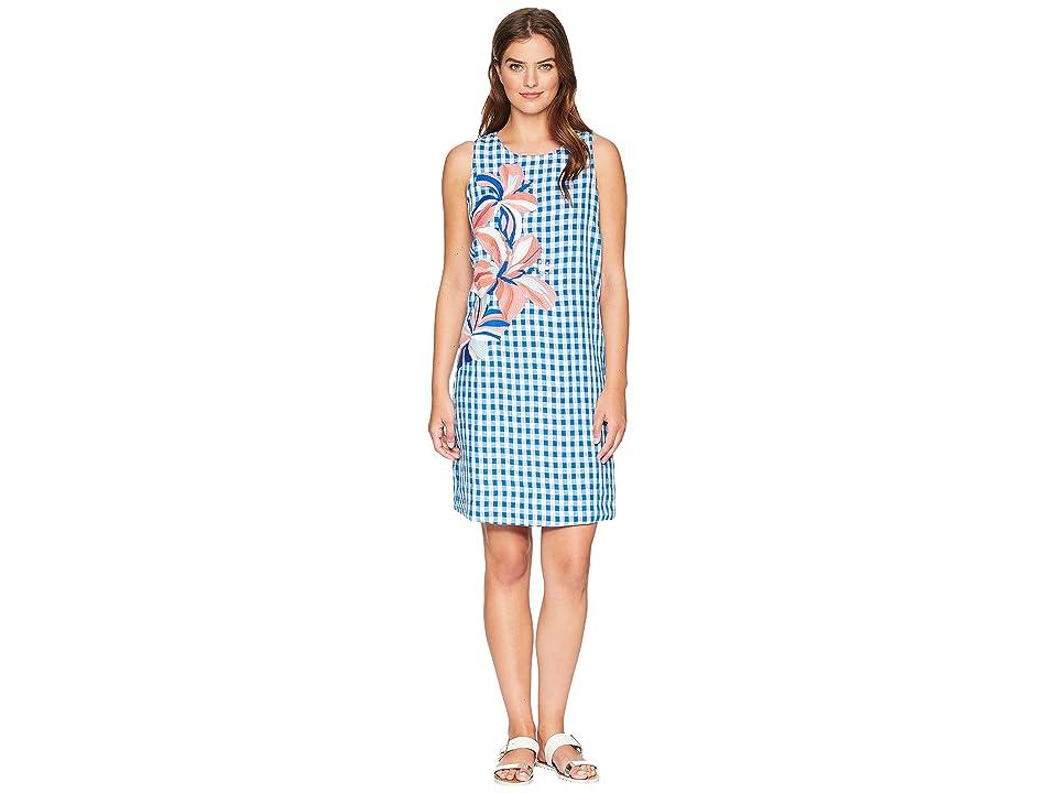 Tommy Bahama Gabriella Gingham Shift Dress (Blue Aster) Women