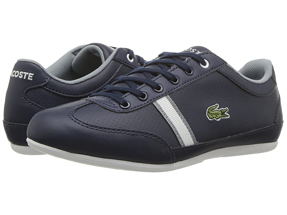 Lacoste Kids Misano 318 (Little Kid/Big Kid) (Navy/White) Girl