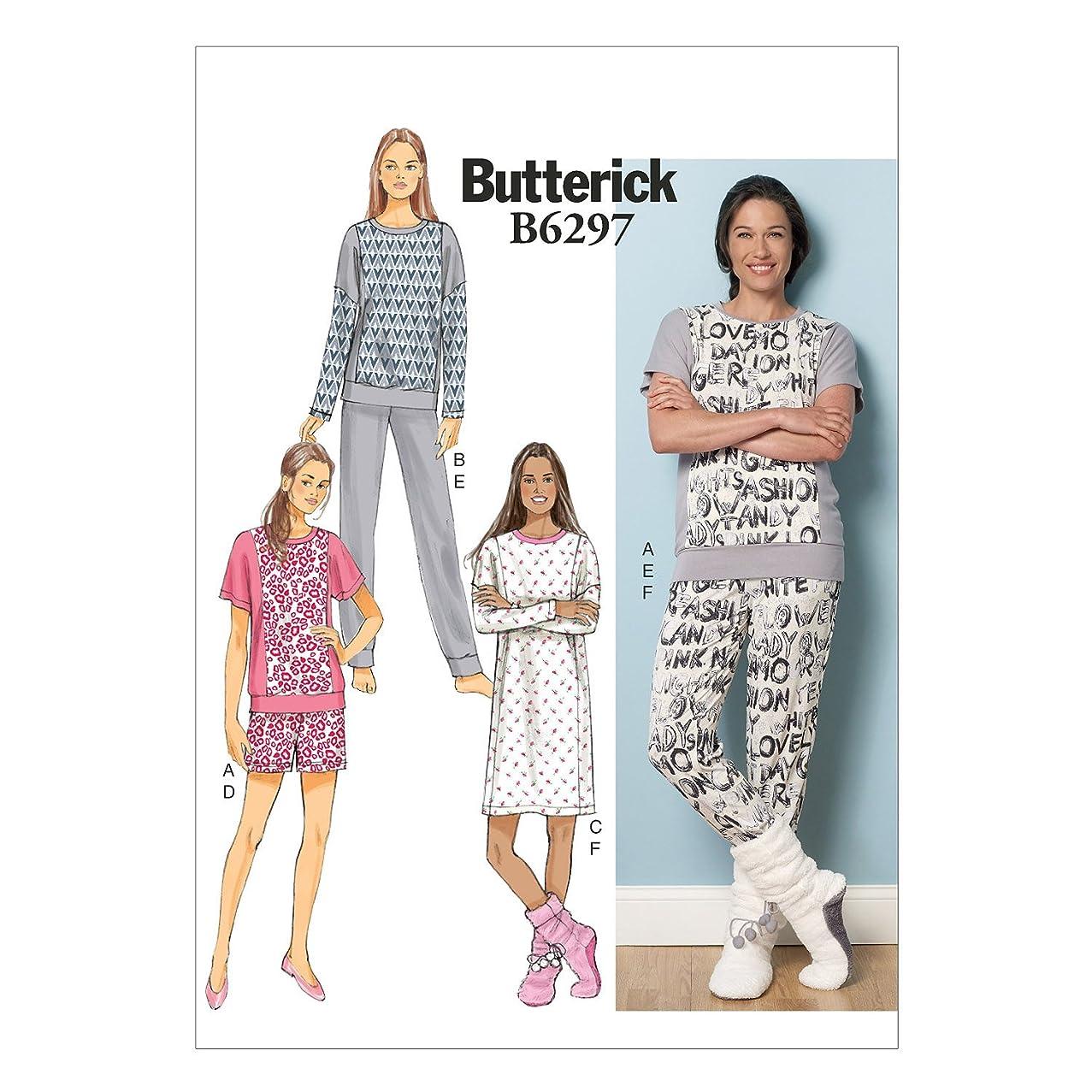 BUTTERICK PATTERNS B6297 Misses' Top, Dress, Shorts, Pants & Lounge Socks, ZZ (Large-X-Large-XX-Large)