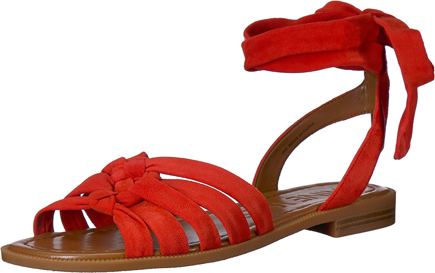 Nine West Womens Xameera Suede Flat Sandal
