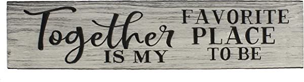 Top Brass Home Decor Large Together Is My Favorite PlaceTo Be Engraved Wood Wall Sign Love Plaque