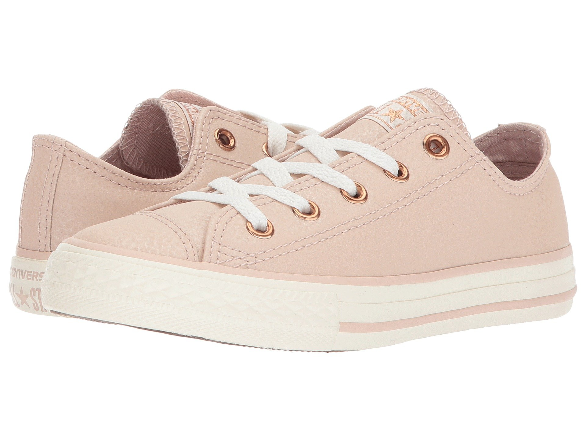 Converse kids shoes girls shipped free at zappos view more like this converse kids chuck taylor all star fashion leather ox little kidbig kid nvjuhfo Image collections