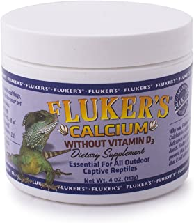 Fluker's 73016 Reptile Calcium Supplement without Vitamin D3, 4-Ounce