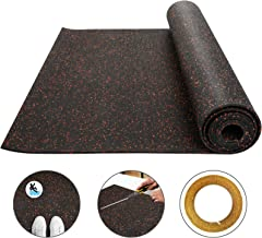 Happybuy 3.6 x 15.3 Ft Red 8mm Heavy Duty Gym Flooring Rubber Rolls Vulcanized Rubber Flooring Equipment Mats for Gym or Home