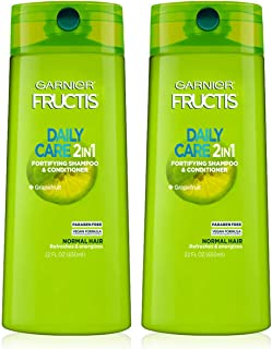 Garnier Hair Care Fructis Fortifying Paraben-Free 2-in-1 Shampoo and Conditioner for Stronger Looking Hair with Touchable ...
