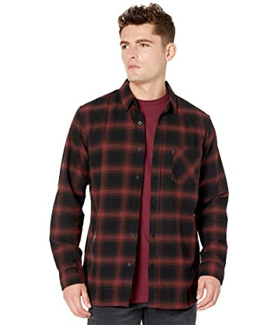 Rip Curl Check This Long Sleeve Shirt (Maroon) Men