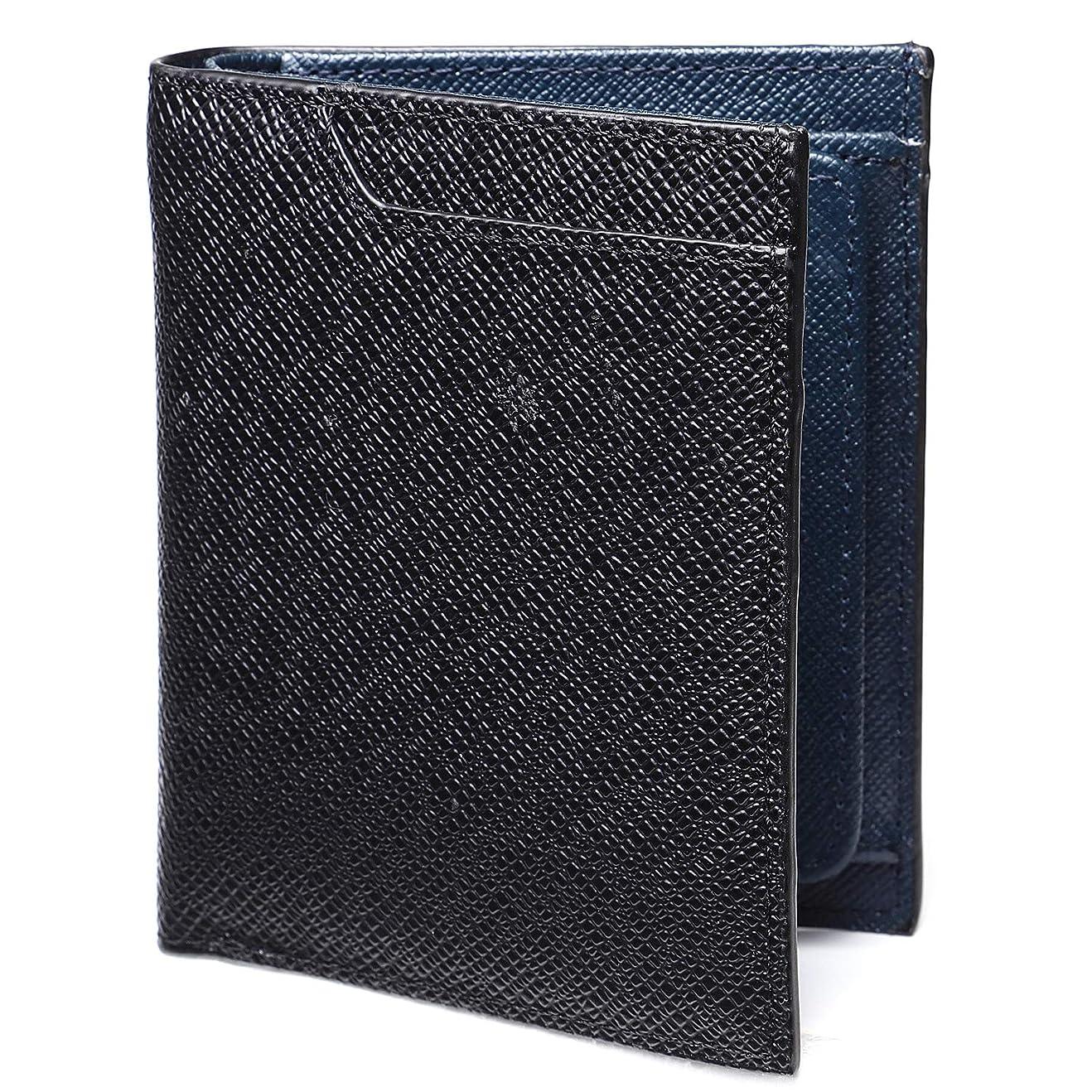 愛人オープナー犯人LYKKERAS 財布 二つ折り財布 ボックス型 小銭入れ付き 薄型 ICカード収納付