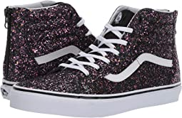 6d0e487499 (Glitter Stars) Black True White. 190. Vans Kids. Sk8-Hi Zip (Little Kid Big  Kid)