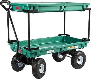 Farm Tuff Plastic Double Deck Wagon, 20-Inch by 38-Inch, Green