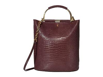 LAUREN Ralph Lauren Leyton 28 Tote Medium (Bordeaux) Handbags