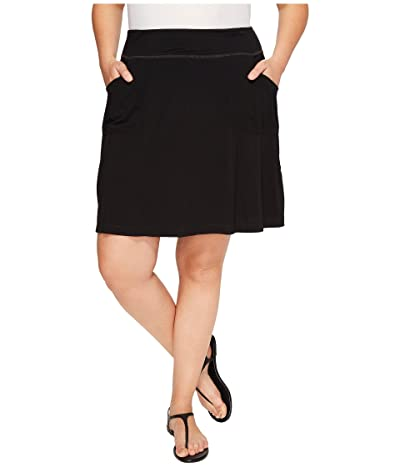 Fresh Produce Plus Size City Skort (Black) Women