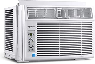 AmazonBasics Window-Mounted Air Conditioner with Remote - Cools 250 Square Feet, 6000 BTU