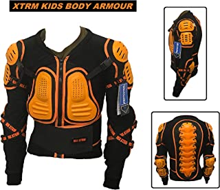 XTRM MOTORCYCLE KIDS BODY ARMOUR JACKET BLUE Motocross Quad MX Sport Touring Protective CE Armour Jacket