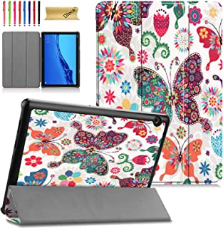 Case for Huawei MediaPad T5 10 - Dteck Lightweight Folio Tri-Fold Case Multiple Viewing Stand Hard Back Cover for Huawei M...