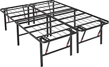 AmazonBasics Foldable Platform Bed Frame, Tool-Free Assembly, 18 Inch Height for Under-Bed Storage, Full