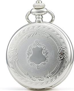 SEWOR Vintage Elegant Carving Pocket Watch Mechanical Hand Wind