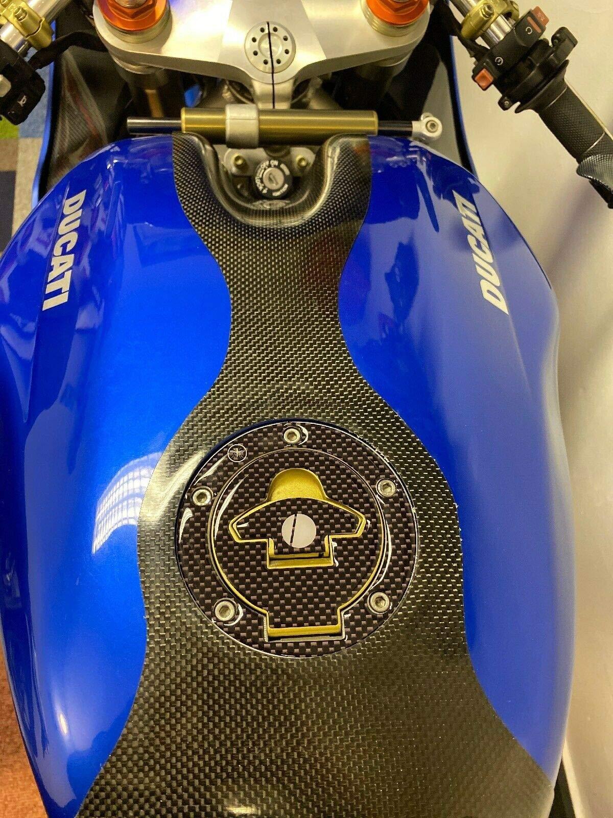 ADESIVO gel 3D PROTEZIONE TAPPO SERBATOIO compatibile per MOTO DUCATI PANIGALE