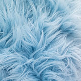 MoHair 60 Inch Faux Fur Baby Blue Fabric by the Yard (F.E.